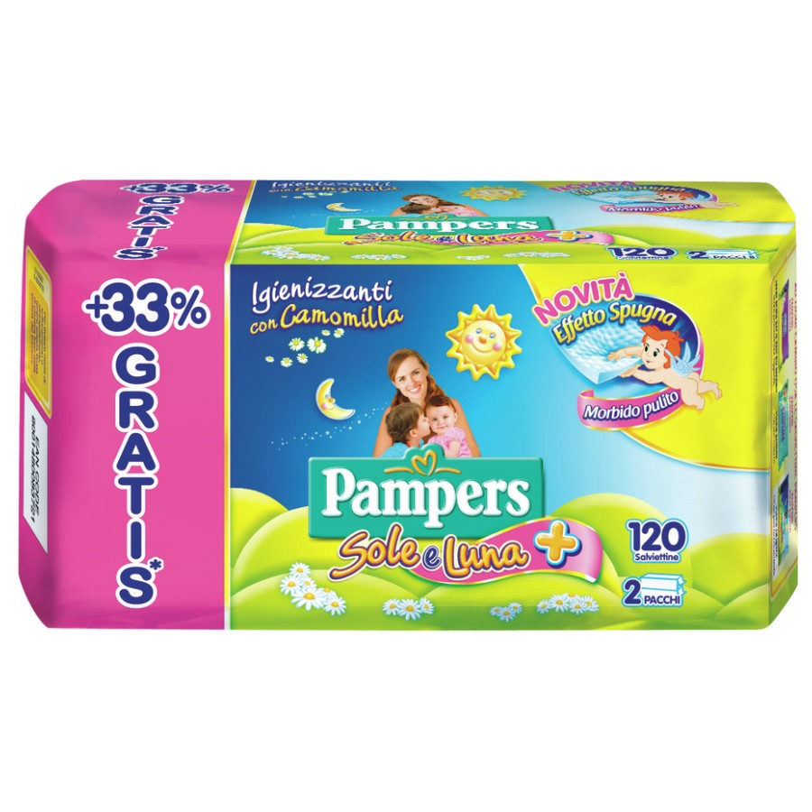 Pampers Salviette Sole e Luna 90 + 30