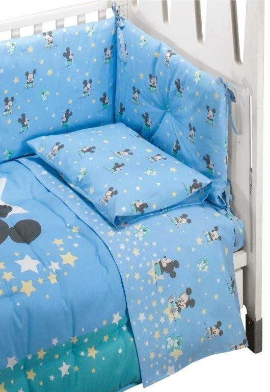 Completo Lenzuola Lettino Mickey Mouse Dream Disney By Caleffi