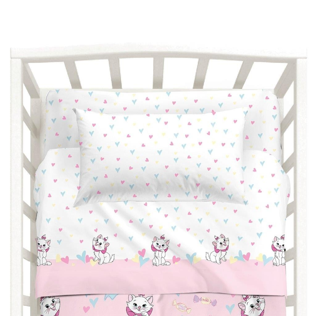 Completo Lenzuola Lettino Marie Disney Baby By Caleffi