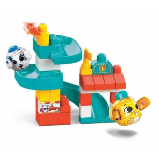 Mega Bloks- First Builders Playset Parco Giochi con Lanciatore 1+ Anni