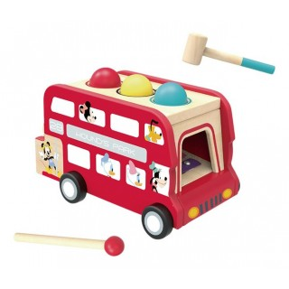 Bus Musicale in legno Mickey Mouse