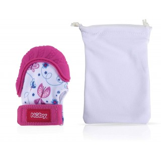 Nuby Guantino Massaggiagengive Happy Hands Rosa