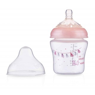 Nuby Biberon flusso lento Little Moments Rosa 180ml