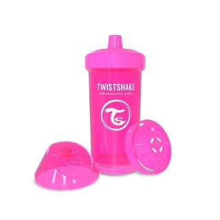 Twistshake Borraccia con Shaker per Frutta 360 ml Rosa