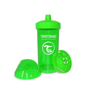 Twistshake Borraccia con Shaker per Frutta 360 ml Verde